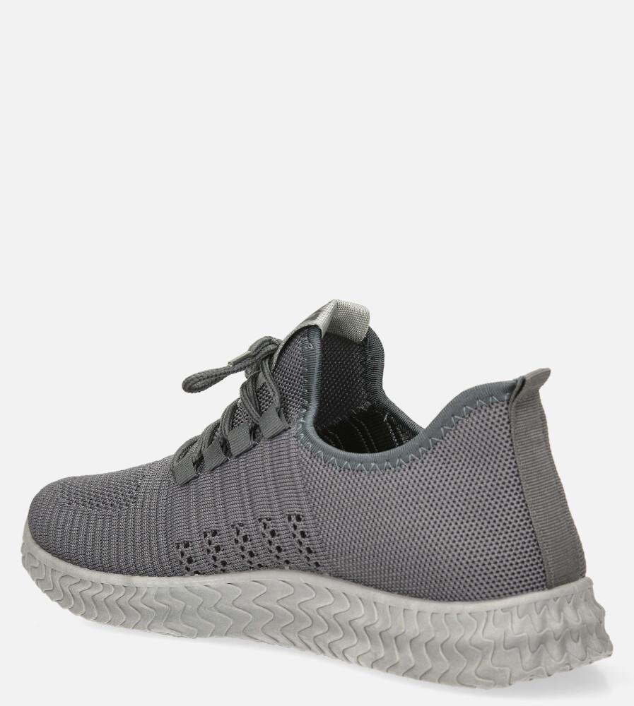 Szare buty sportowe sznurowane Casu 204/5G kolor szary