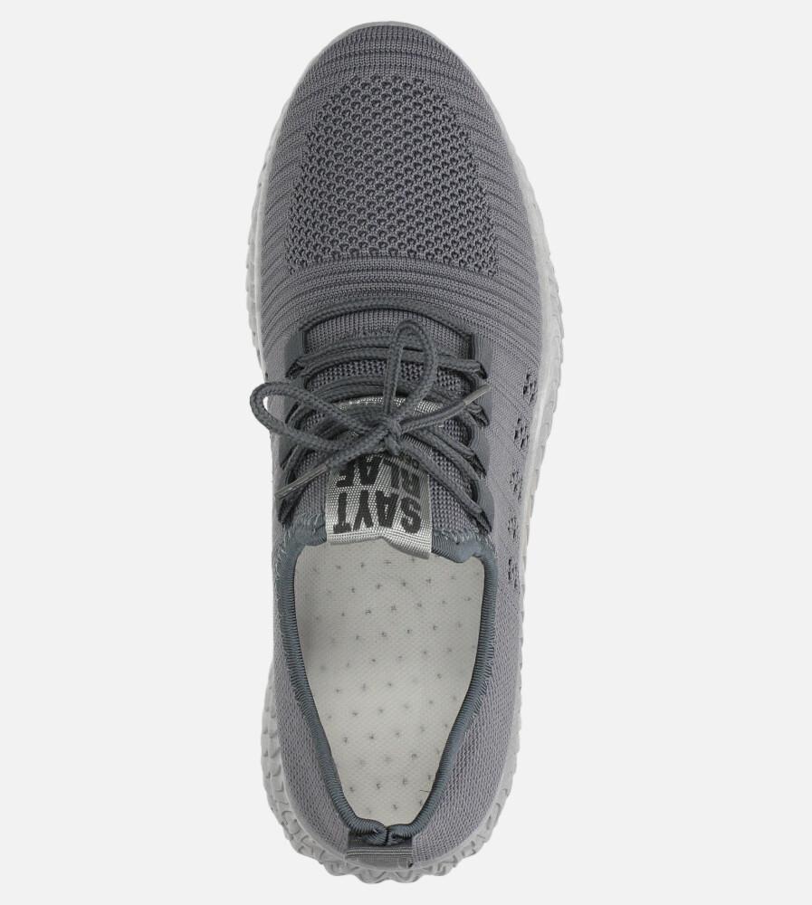 Szare buty sportowe sznurowane Casu 204/5G wysokosc_obcasa 3 cm