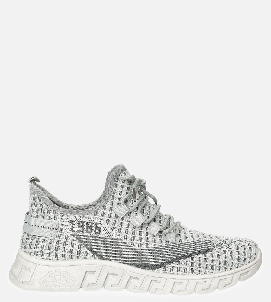 Szare buty sportowe sznurowane Casu 20A16/G szary
