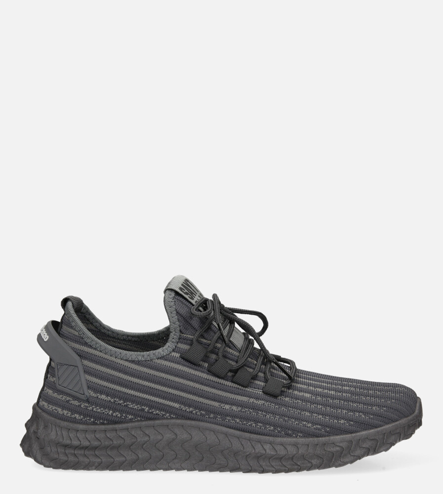 Szare buty sportowe sznurowane Casu 20A9/G  model 20A9/G/781