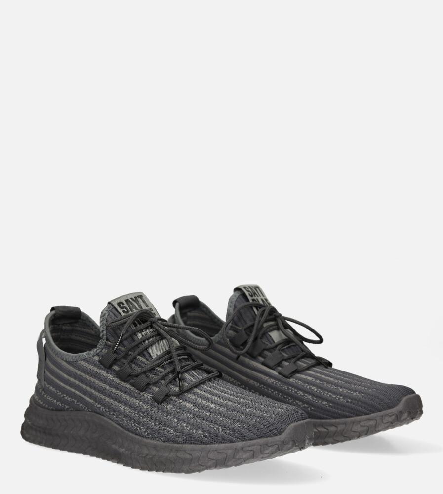 Szare buty sportowe sznurowane Casu 20A9/G  kolor szary