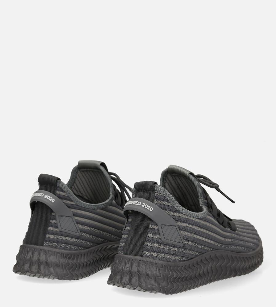 Szare buty sportowe sznurowane Casu 20A9/G  wysokosc_obcasa 3 cm