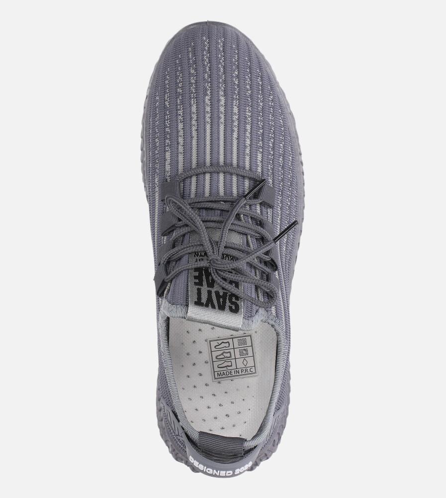 Szare buty sportowe sznurowane Casu 20A9/G  wysokosc_platformy 1.5 cm