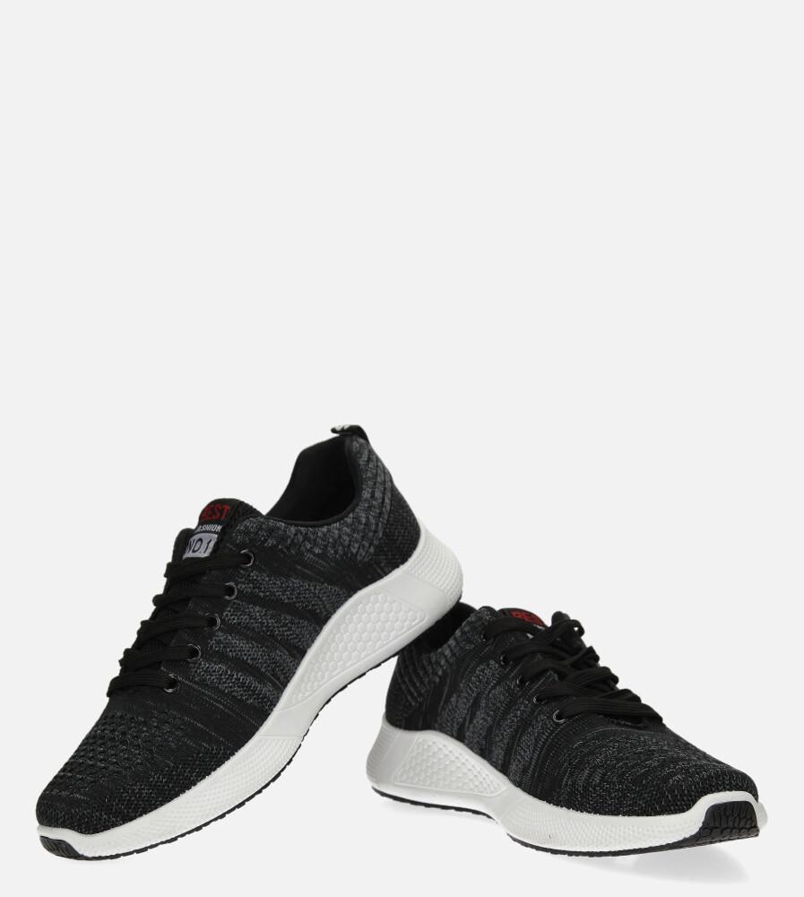 Szare buty sportowe sznurowane Casu 20F1/G  kolor czarny, szary
