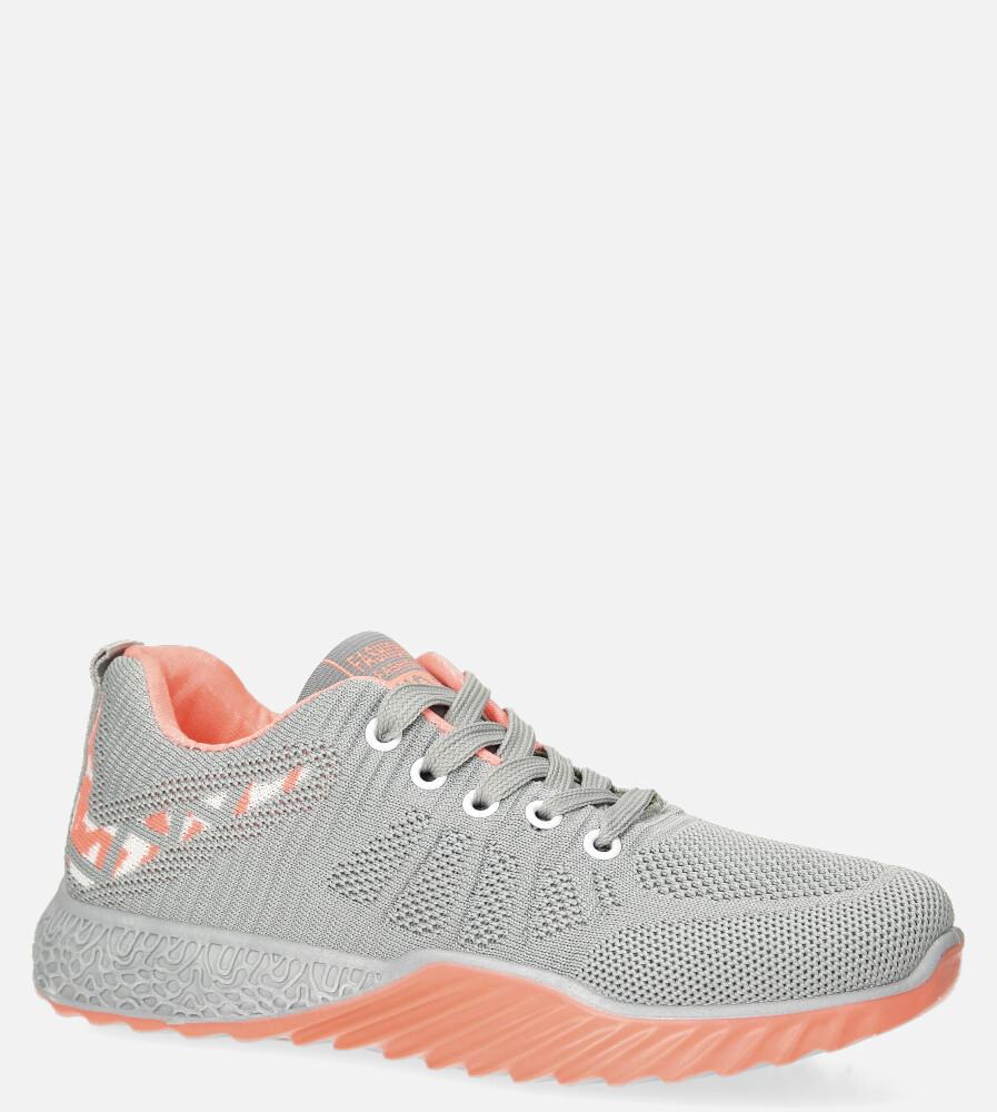 Szare buty sportowe sznurowane Casu 20O15/G szary