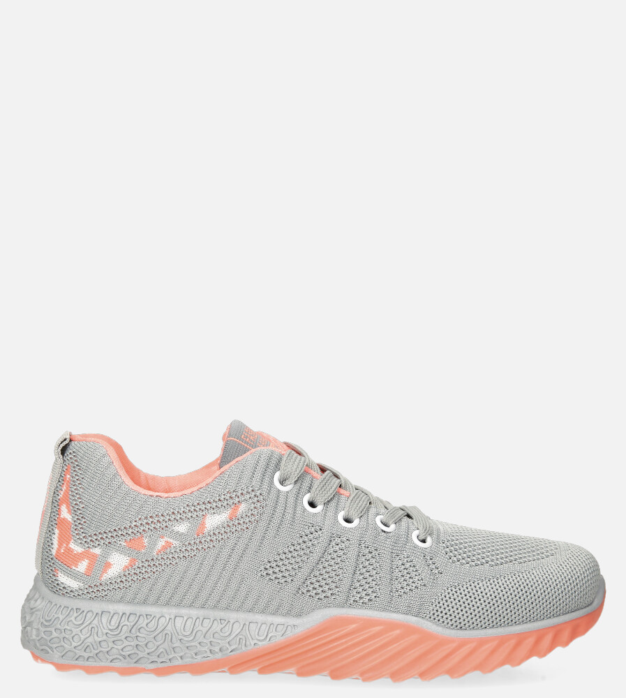Szare buty sportowe sznurowane Casu 20O15/G