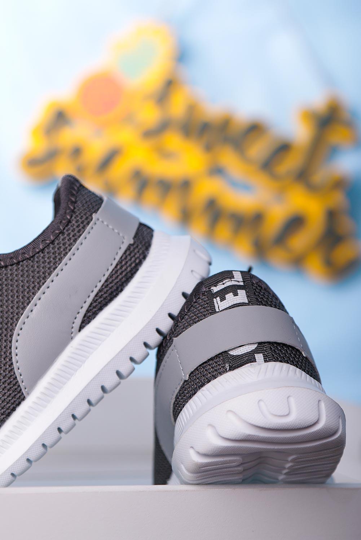 Szare buty sportowe sznurowane Casu 20T1/M szary