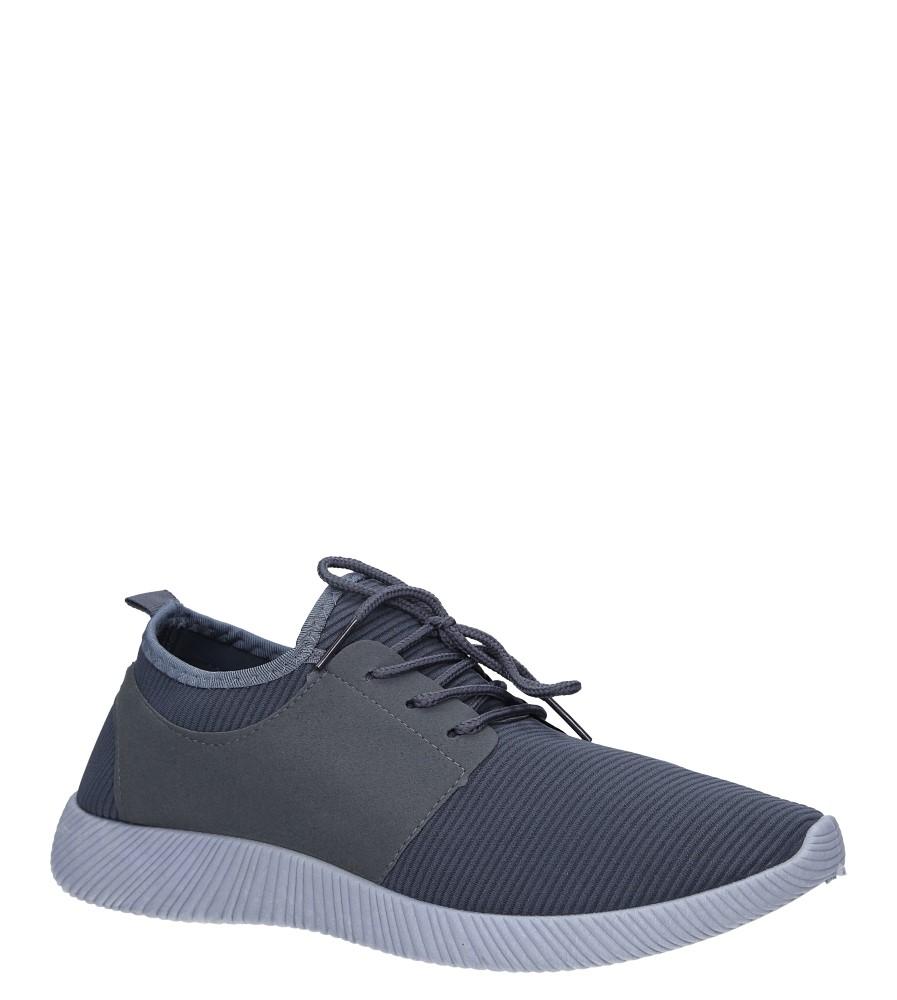 Szare buty sportowe sznurowane Casu 2951