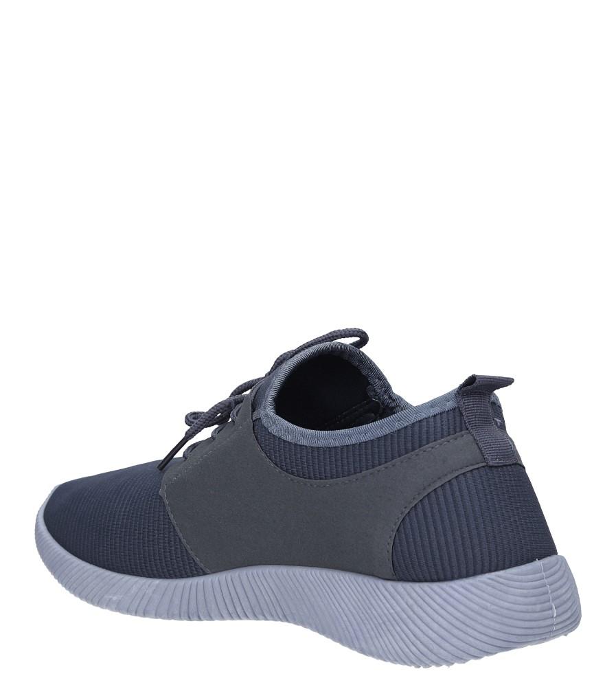 Szare buty sportowe sznurowane Casu 2951  sezon Całoroczny