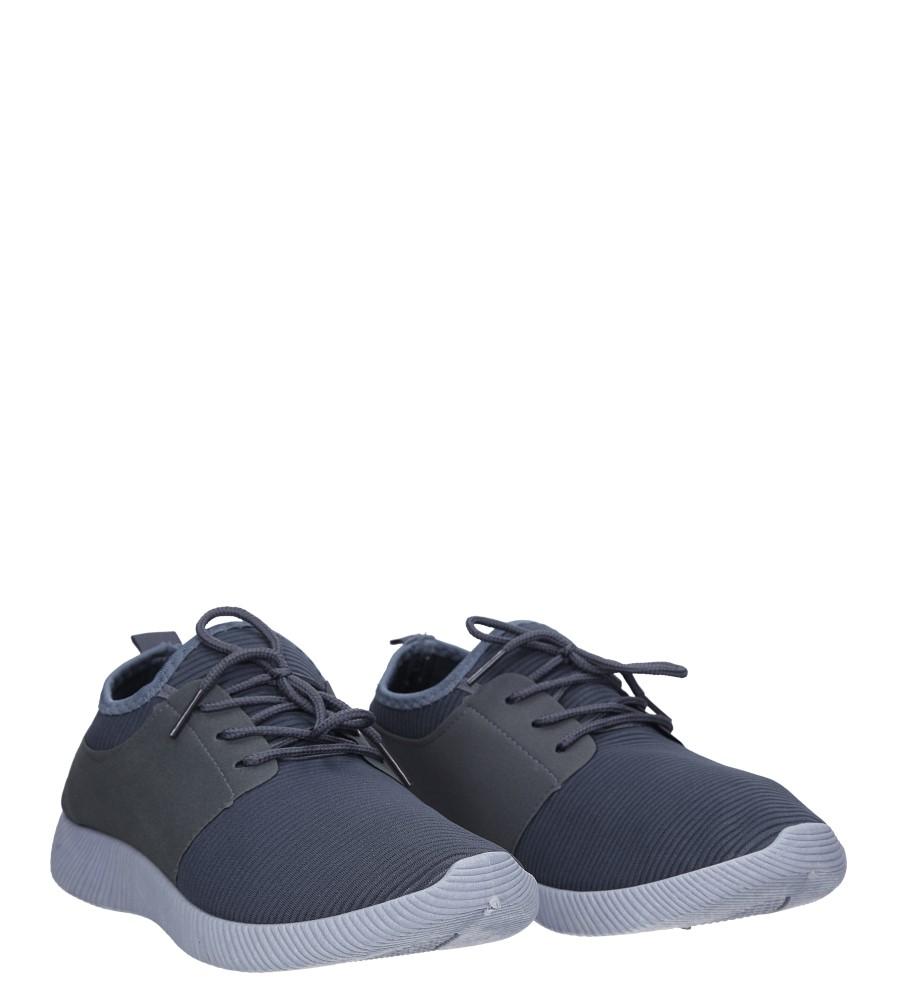 Szare buty sportowe sznurowane Casu 2951  kolor szary