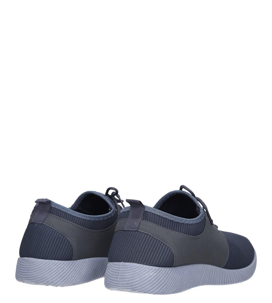 Szare buty sportowe sznurowane Casu 2951  wysokosc_platformy 1.5 cm