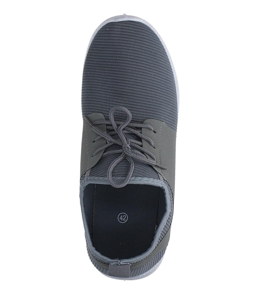Szare buty sportowe sznurowane Casu 2951  wys_calkowita_buta 14.5 cm