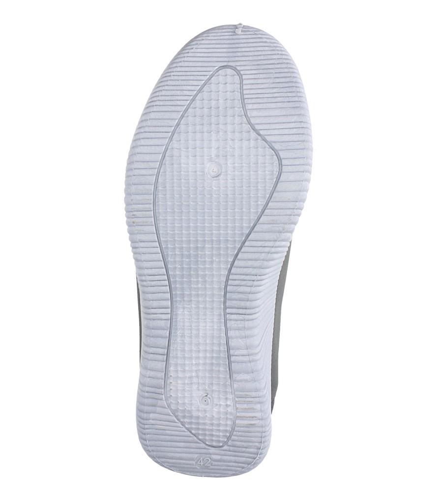 Szare buty sportowe sznurowane Casu 2951  wierzch materiał