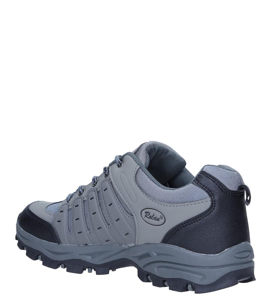 szare buty sportowe sznurowane casu 78004 Szare buty