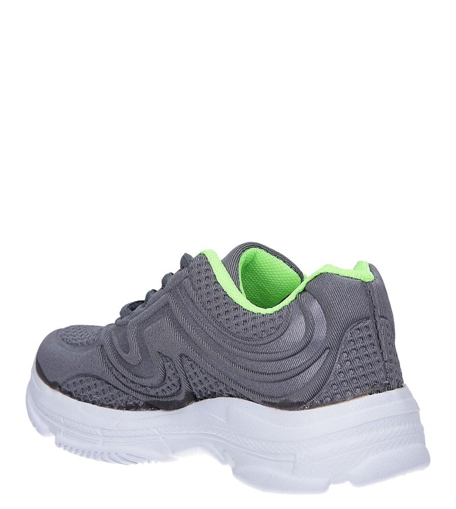Szare buty sportowe sznurowane Casu 805A sezon Całoroczny