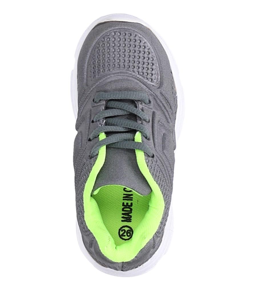 Szare buty sportowe sznurowane Casu 805A kolor szary