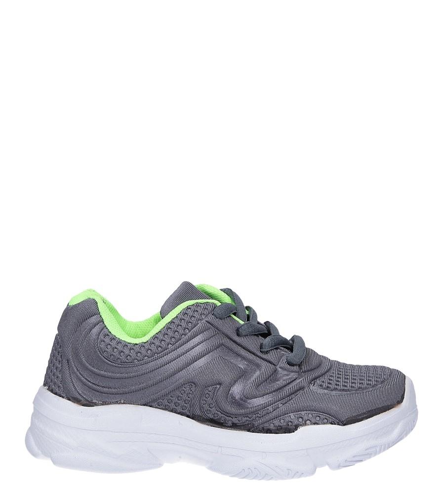 Szare buty sportowe sznurowane Casu 805B