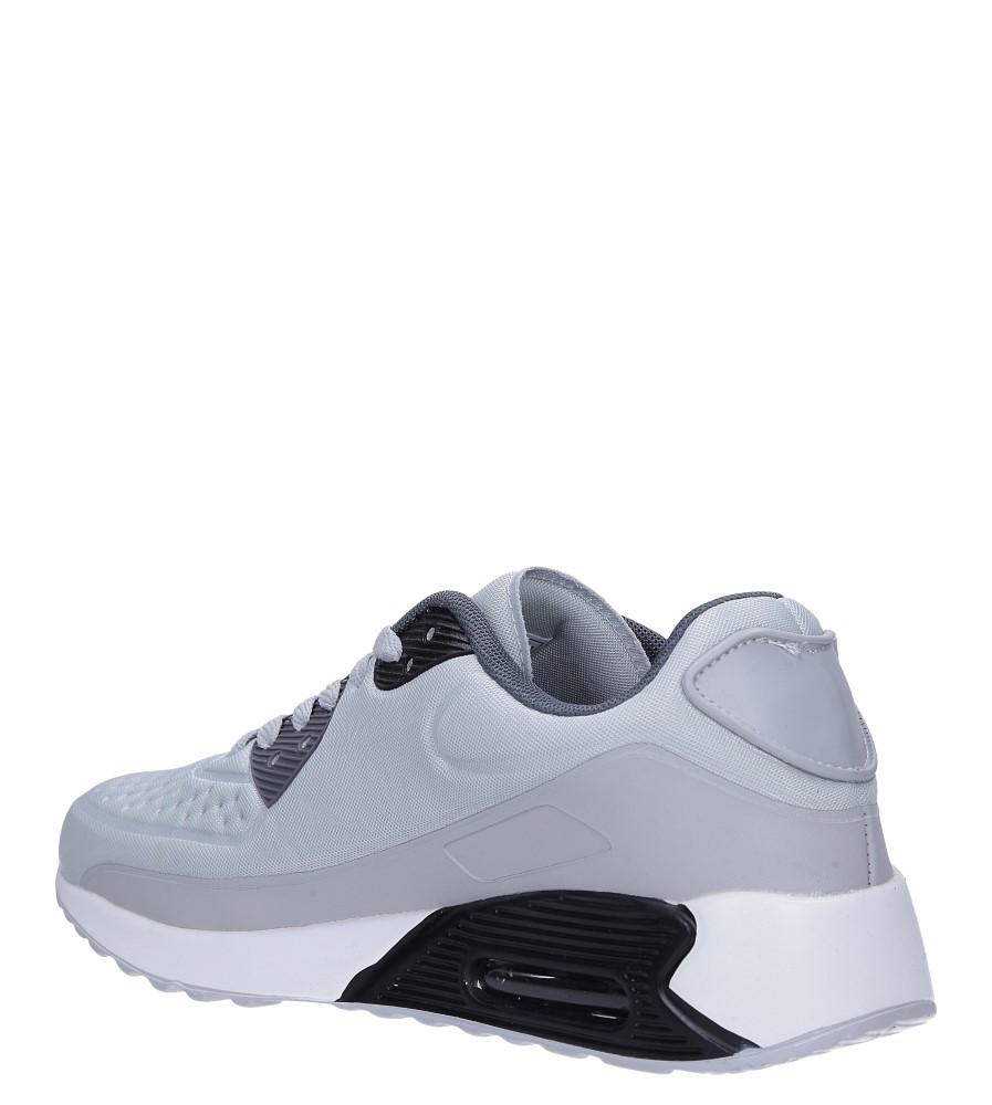 Szare buty sportowe sznurowane Casu 8867-3 sezon Całoroczny