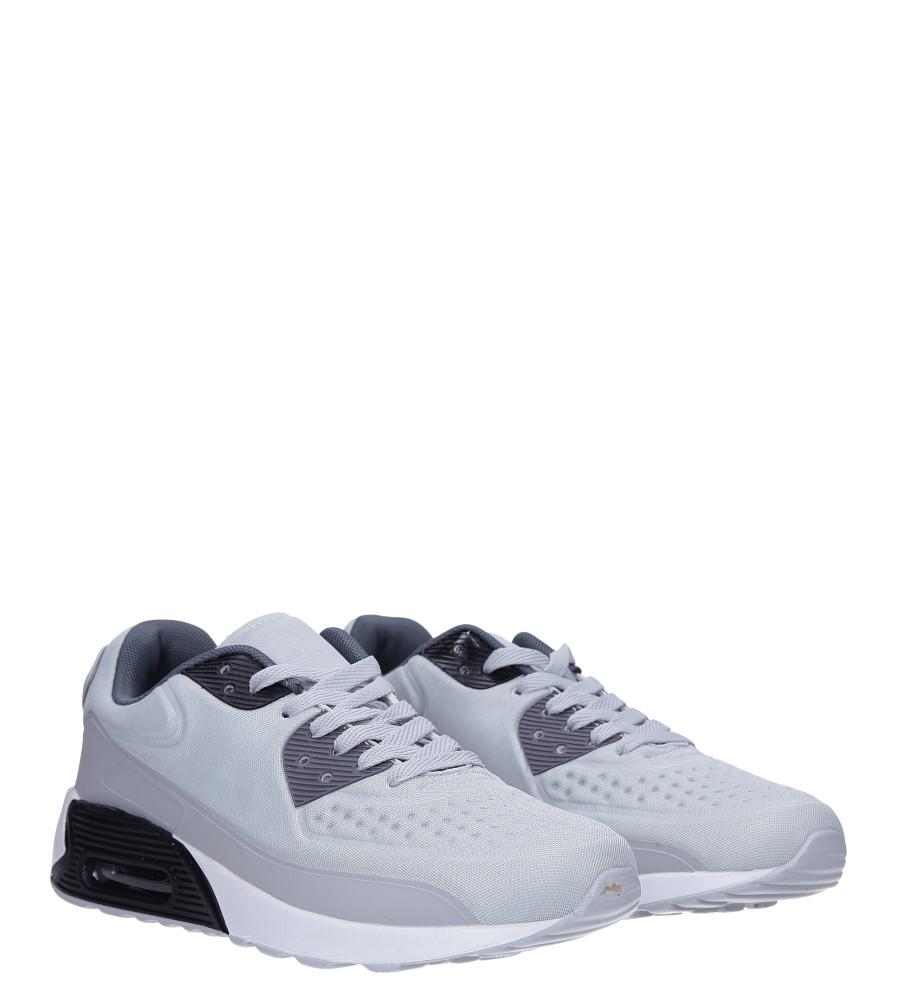 Szare buty sportowe sznurowane Casu 8867-3 kolor jasny szary