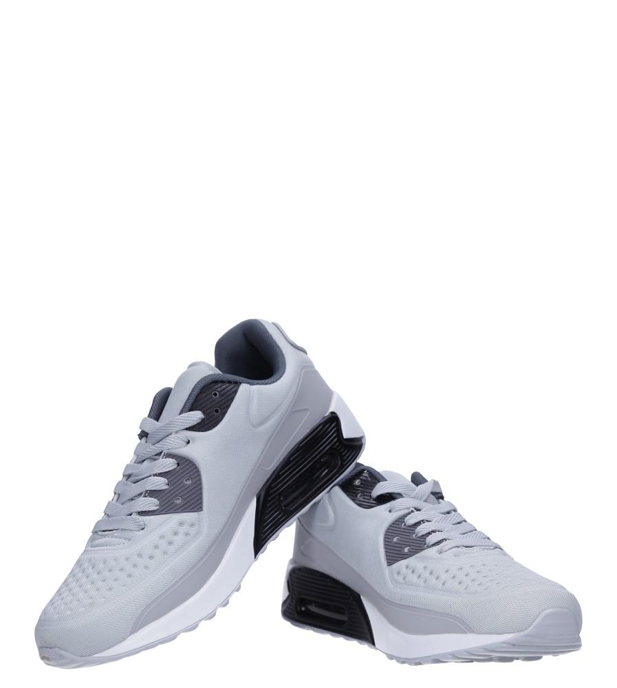 Szare buty sportowe sznurowane Casu 8867-3 wysokosc_platformy 1.5 cm