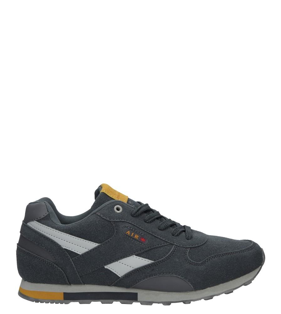 Szare buty sportowe sznurowane Casu 9ACH-17300