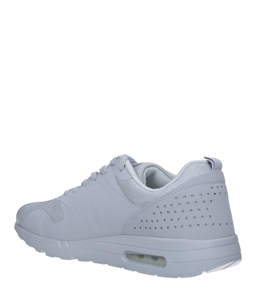 Szare buty sportowe sznurowane Casu A6031-6 sezon Całoroczny