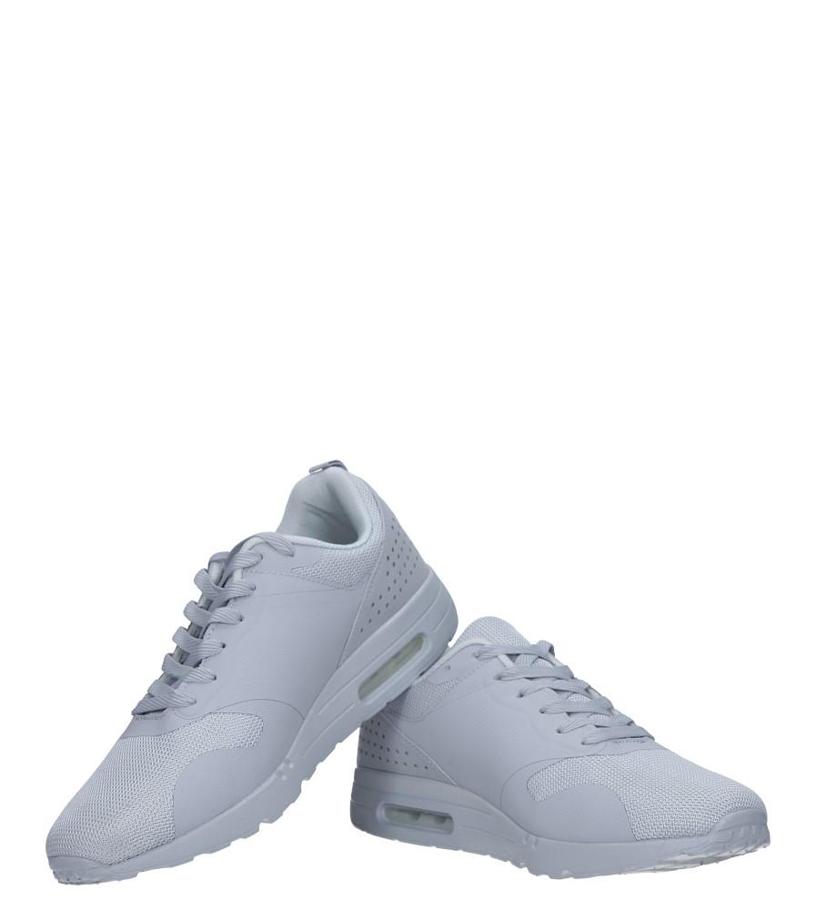 Szare buty sportowe sznurowane Casu A6031-6 kolor szary