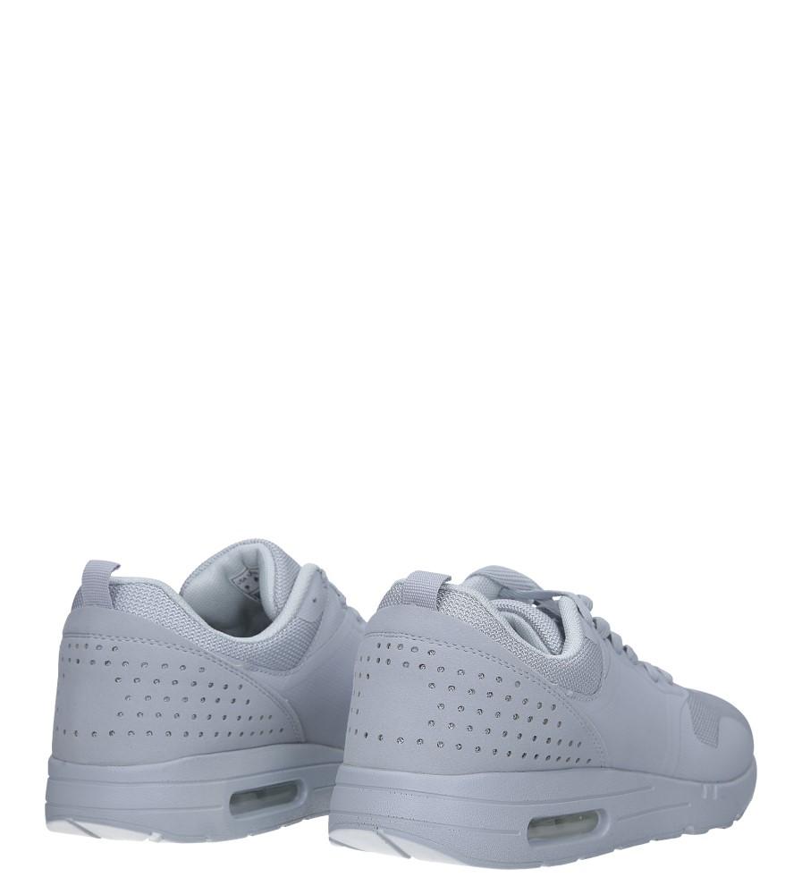 Szare buty sportowe sznurowane Casu A6031-6 wysokosc_platformy 2 cm
