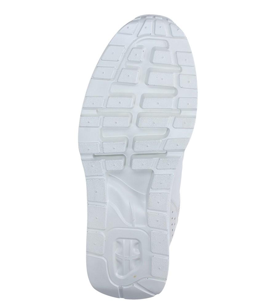 Szare buty sportowe sznurowane Casu A6031-6 wierzch materiał/skóra ekologiczna