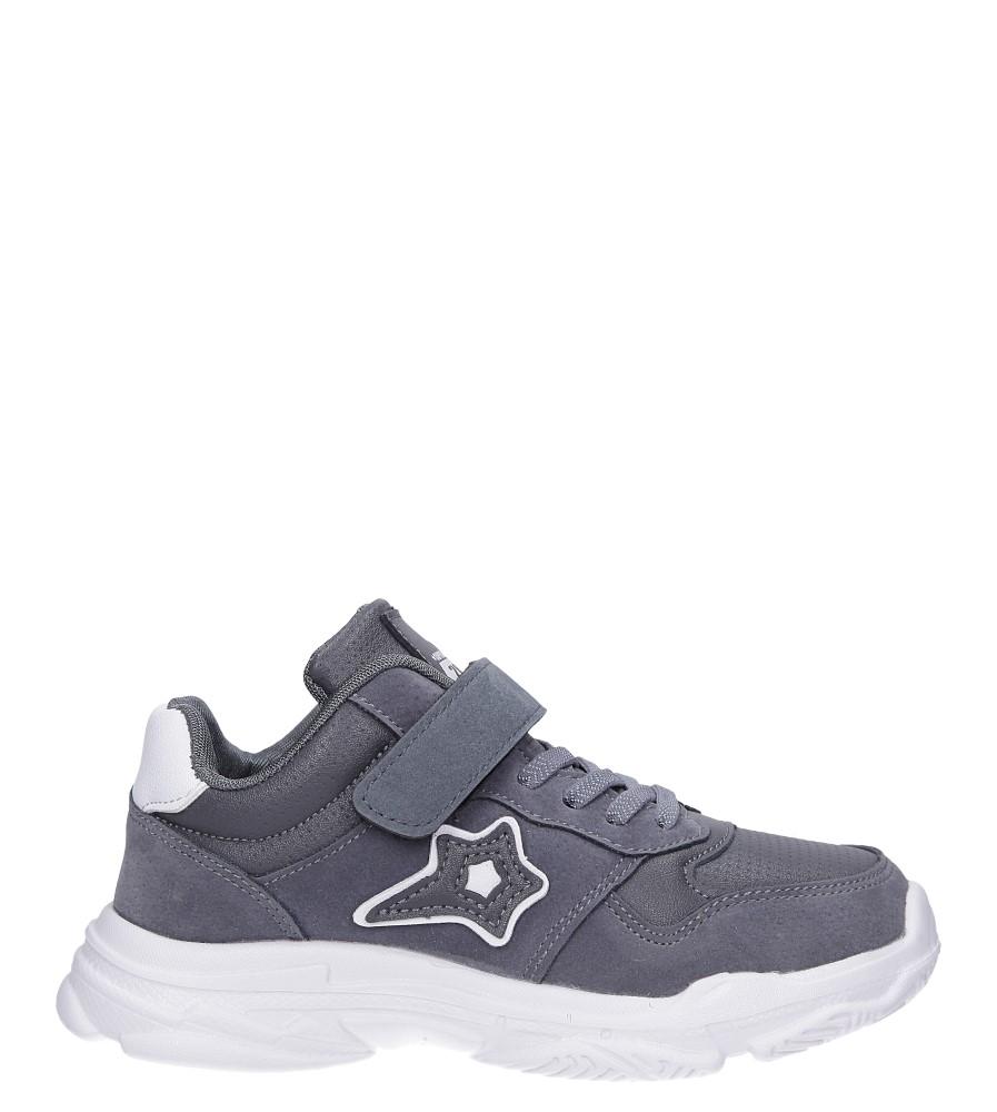 Szare buty sportowe sznurowane Casu A70