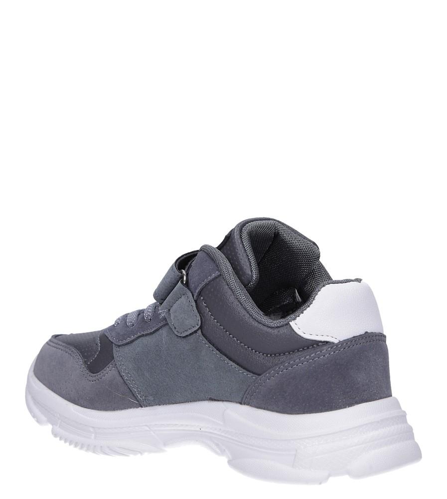 Szare buty sportowe sznurowane Casu A70 sezon Całoroczny