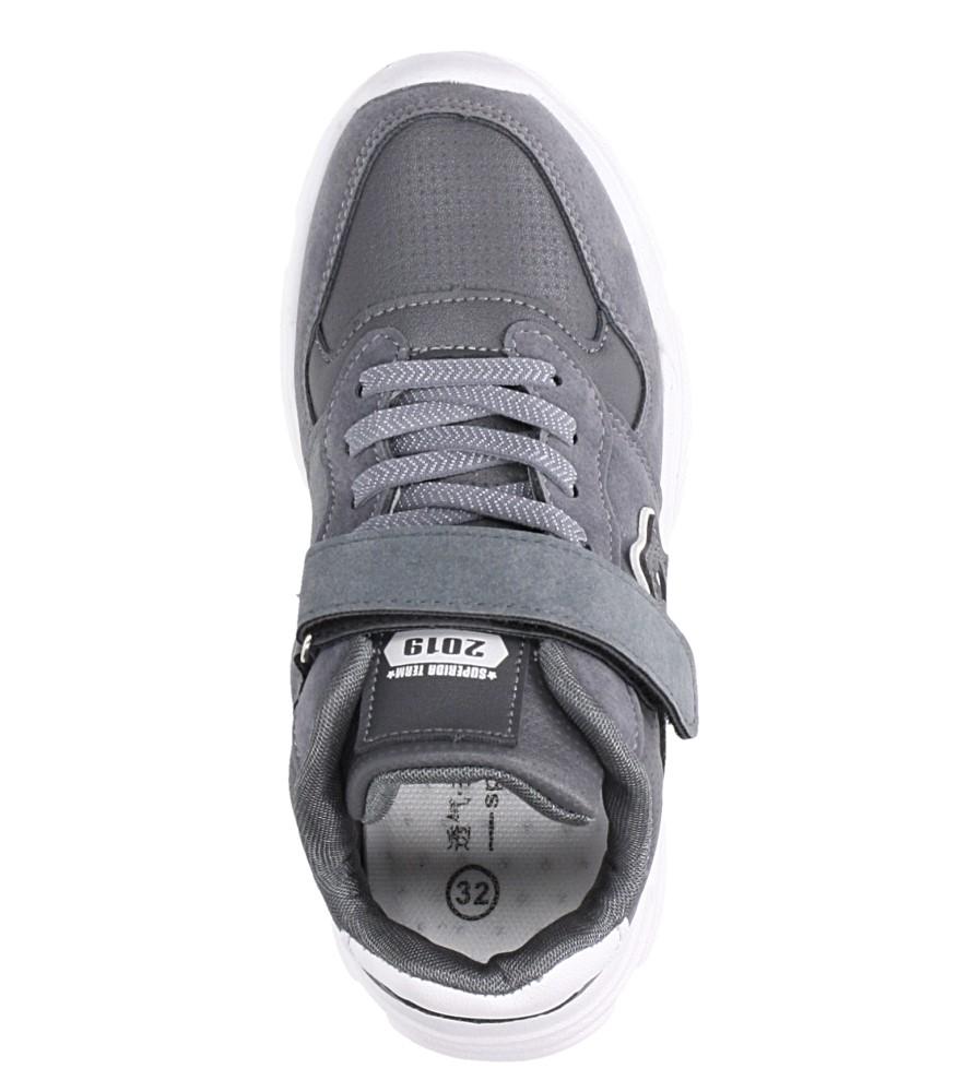 Szare buty sportowe sznurowane Casu A70 kolor szary