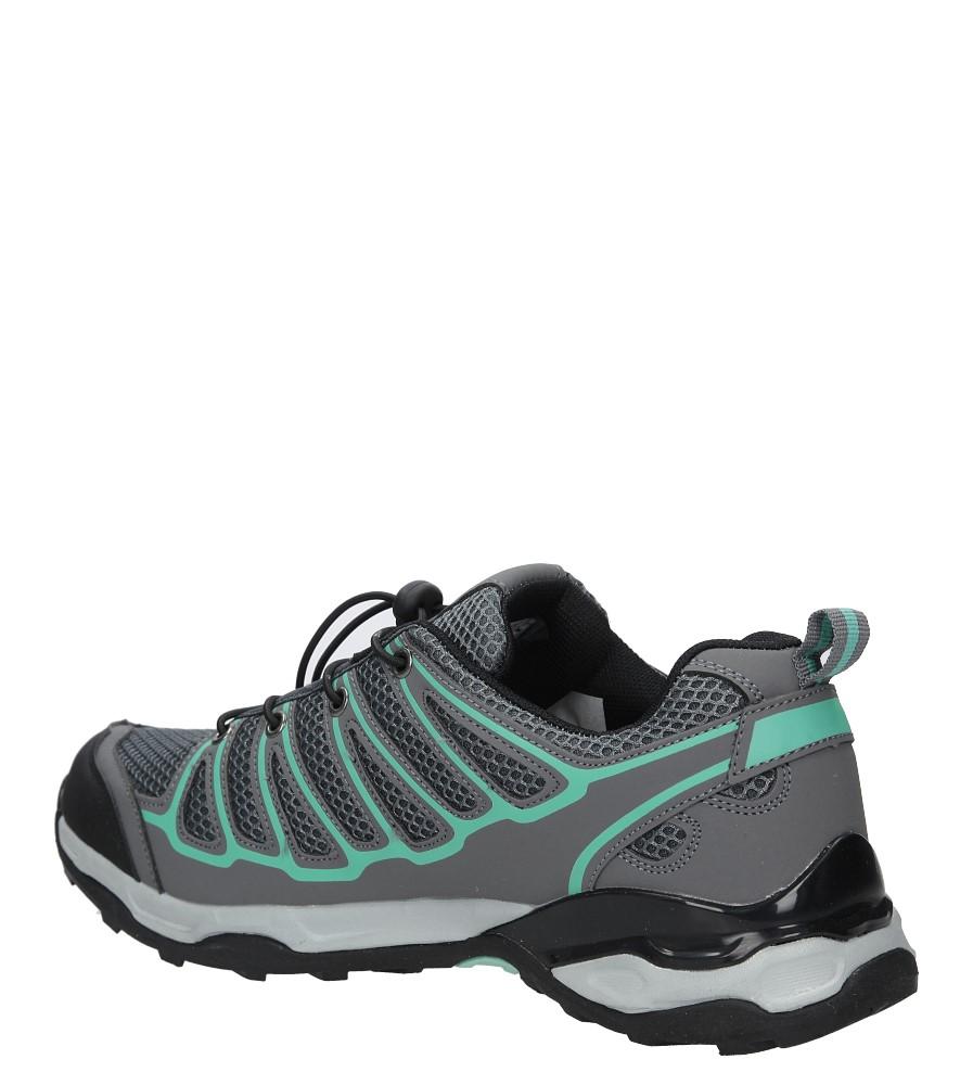 Szare buty sportowe sznurowane Casu A8702-3 kolor ciemny szary, zielony