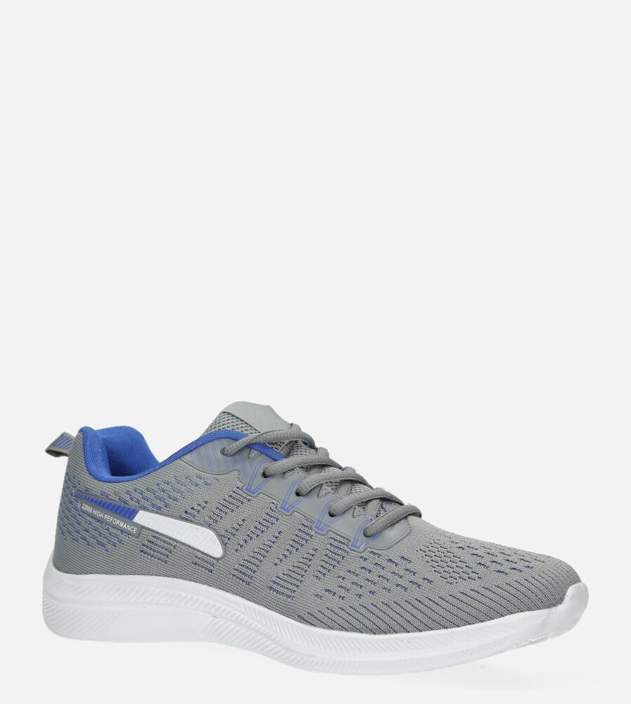 Szare buty sportowe sznurowane Casu A98-3 szary
