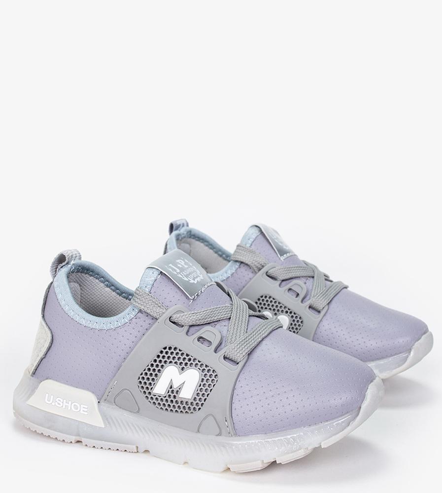 Szare buty sportowe sznurowane Casu B331 szary