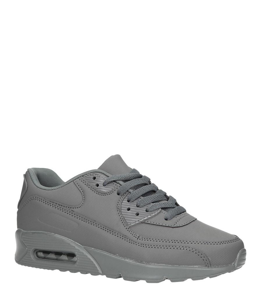 Szare buty sportowe sznurowane Casu D7048-16