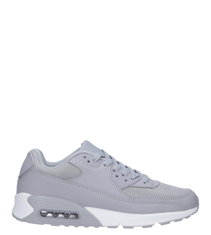 Szare buty sportowe sznurowane Casu E35 szary