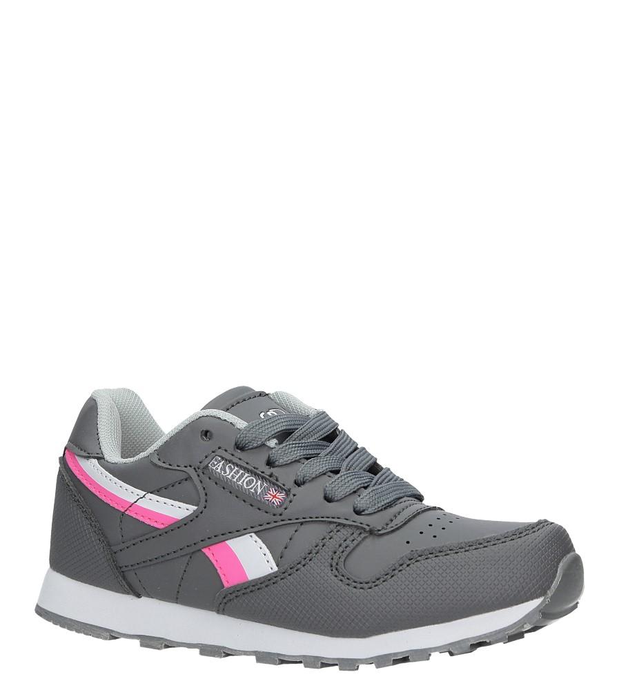 Szare buty sportowe sznurowane Casu FA353 ciemny szary