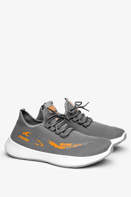Szare buty sportowe sznurowane Casu H214-4