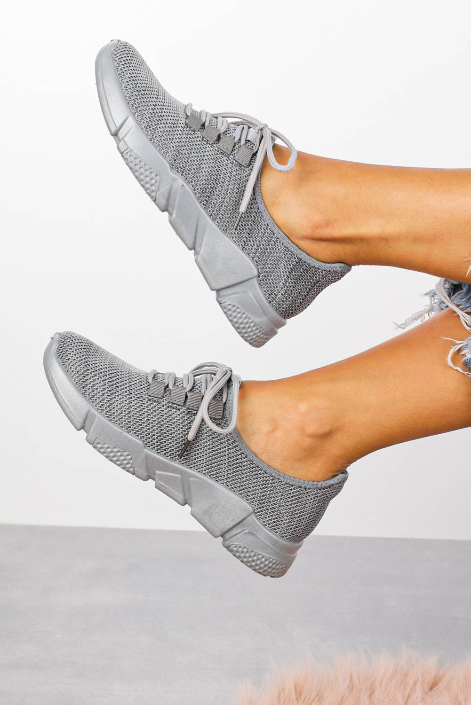 Szare buty sportowe sznurowane Casu H663-1709 szary