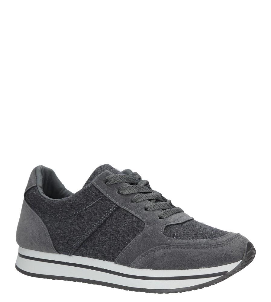 Szare buty sportowe sznurowane Casu HR61225