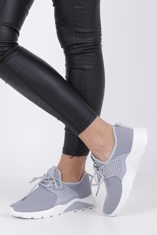 Szare buty sportowe sznurowane Casu HR61293