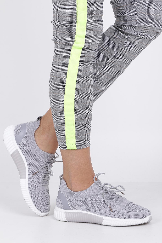Szare buty sportowe sznurowane Casu HR61297 szary