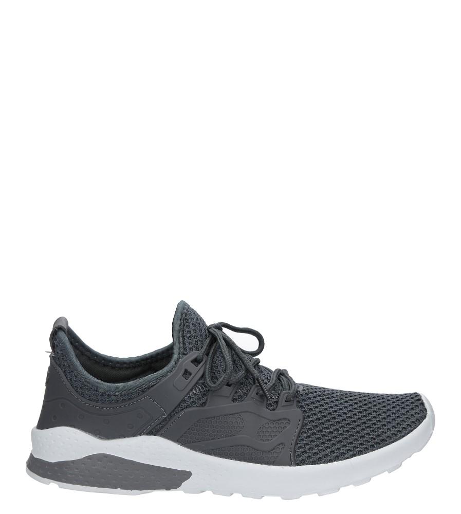 Szare buty sportowe sznurowane Casu JS-5 ciemny szary