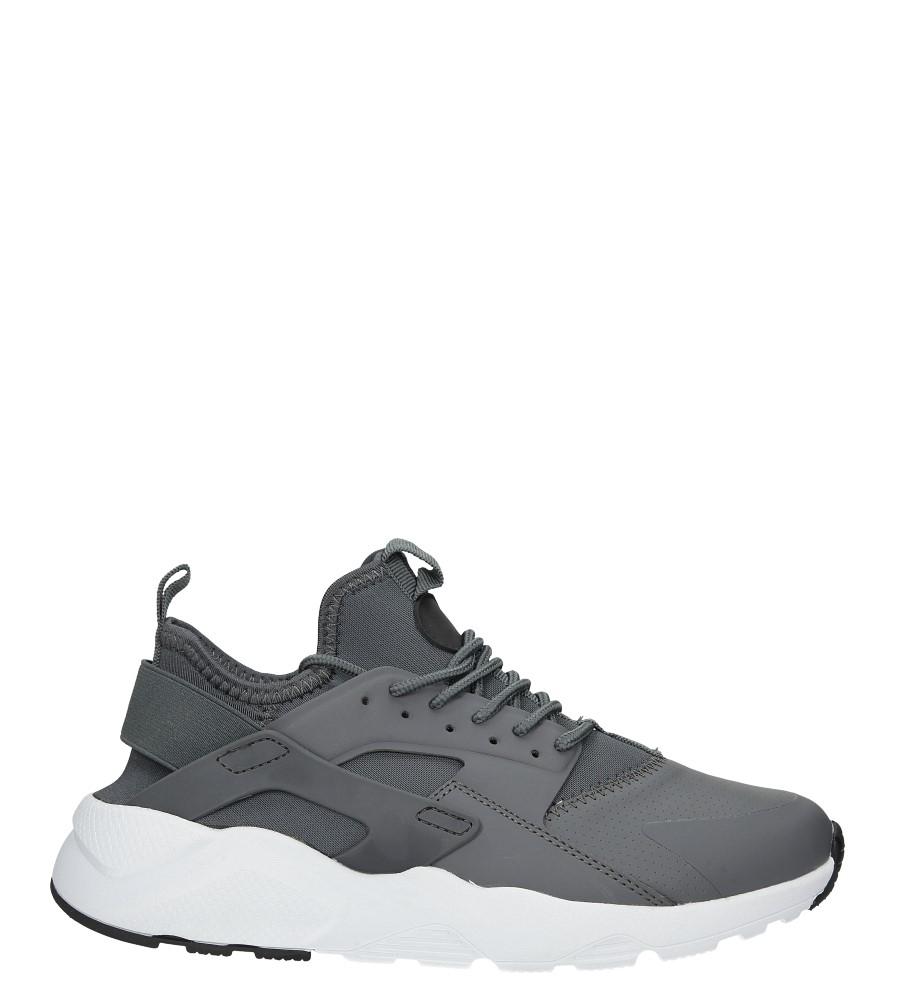 Szare buty sportowe sznurowane Casu U818-138