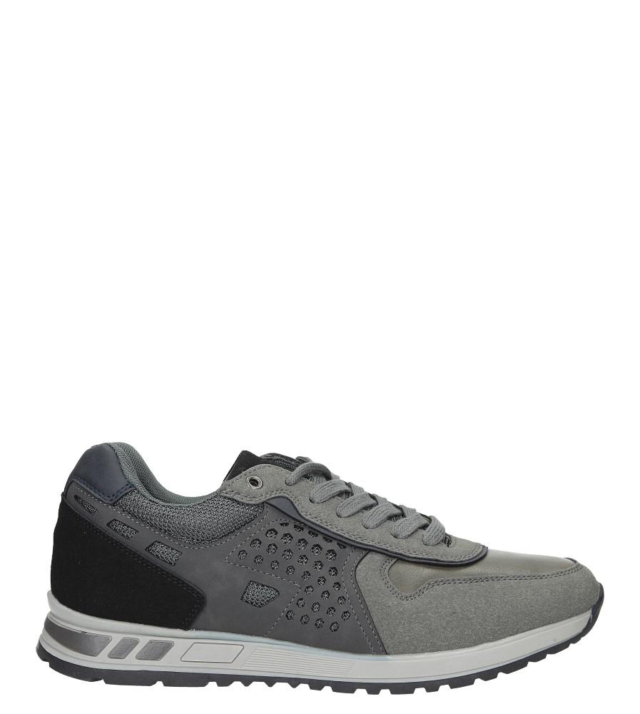 Szare buty sportowe sznurowane Casu U8506-5 model U8506-5