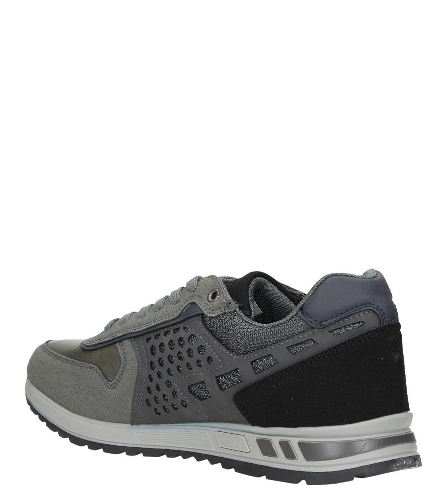 Szare buty sportowe sznurowane Casu U8506-5 sezon Całoroczny