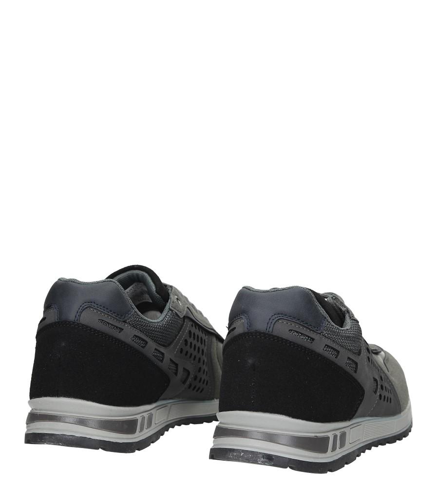 Szare buty sportowe sznurowane Casu U8506-5 kolor szary
