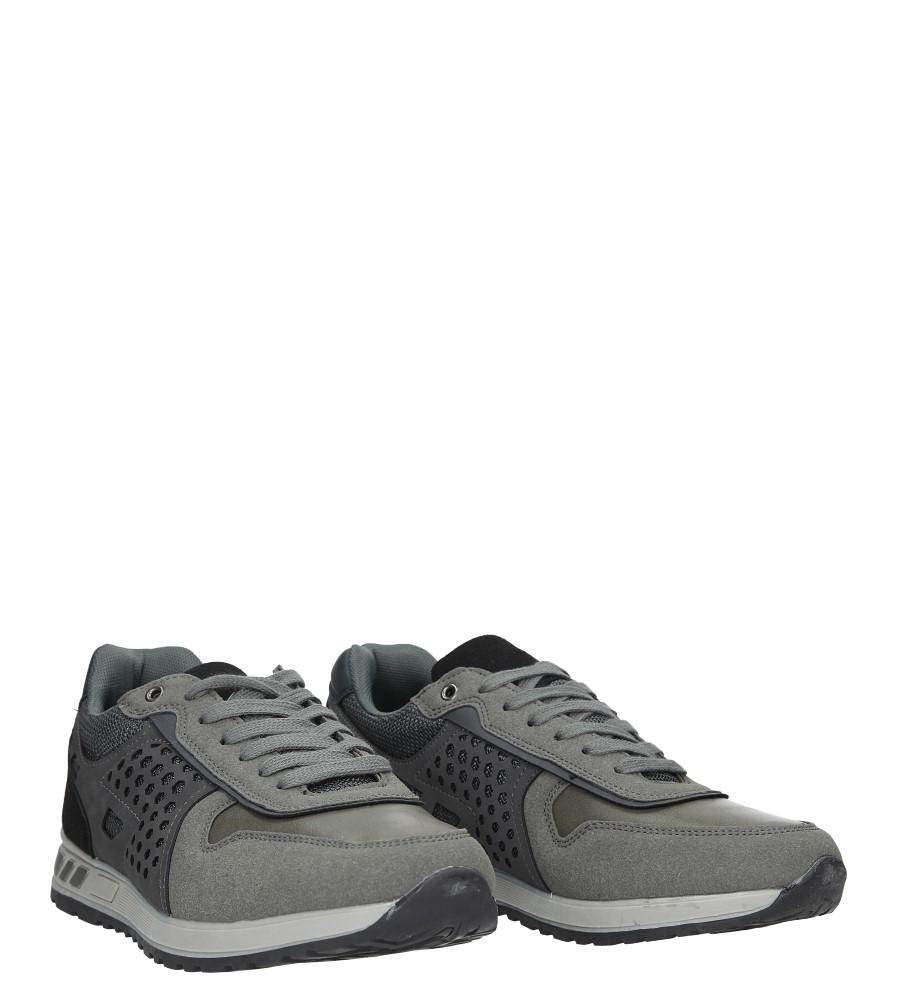 Szare buty sportowe sznurowane Casu U8506-5 wysokosc_platformy 1.5 cm