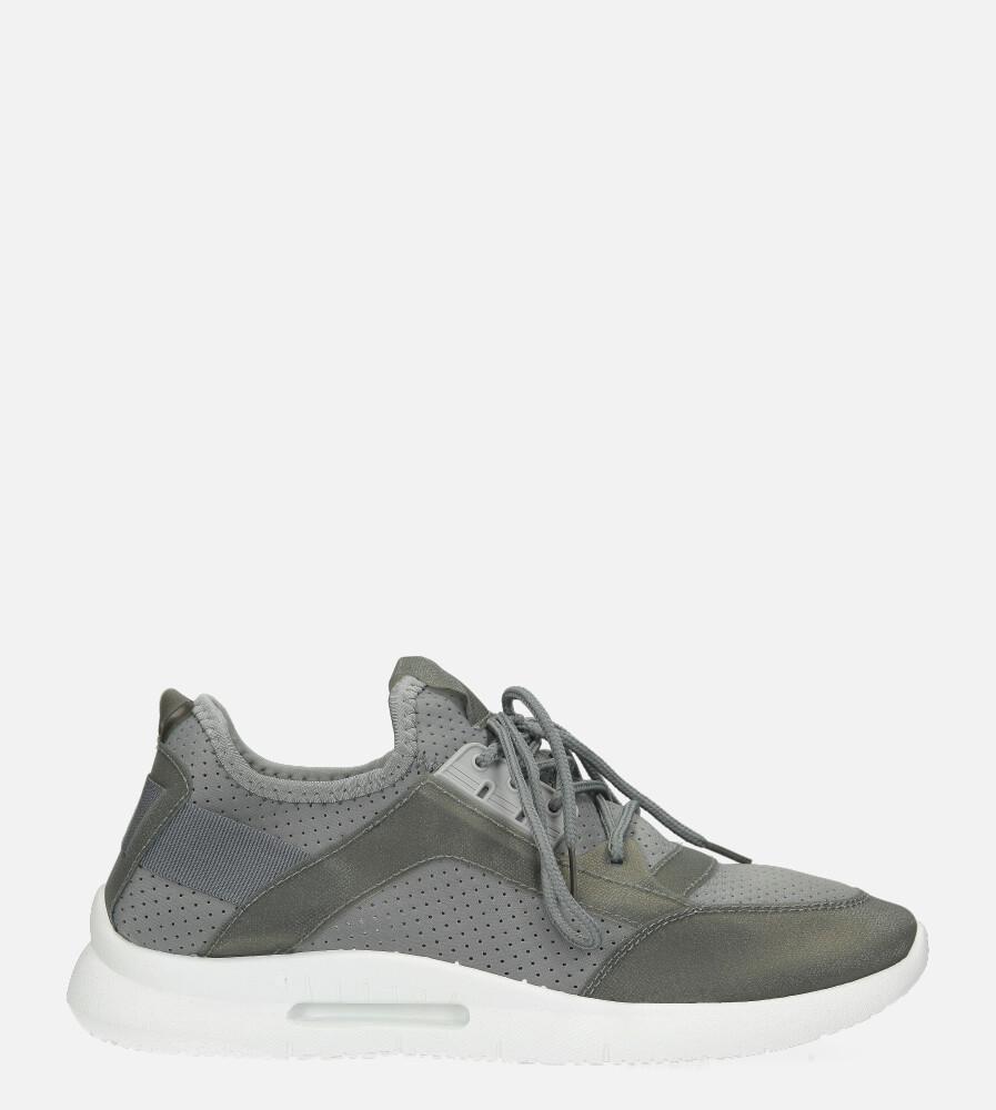 Szare buty sportowe sznurowane Casu US12001-4 szary